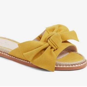Knot Bow Suede Sandals